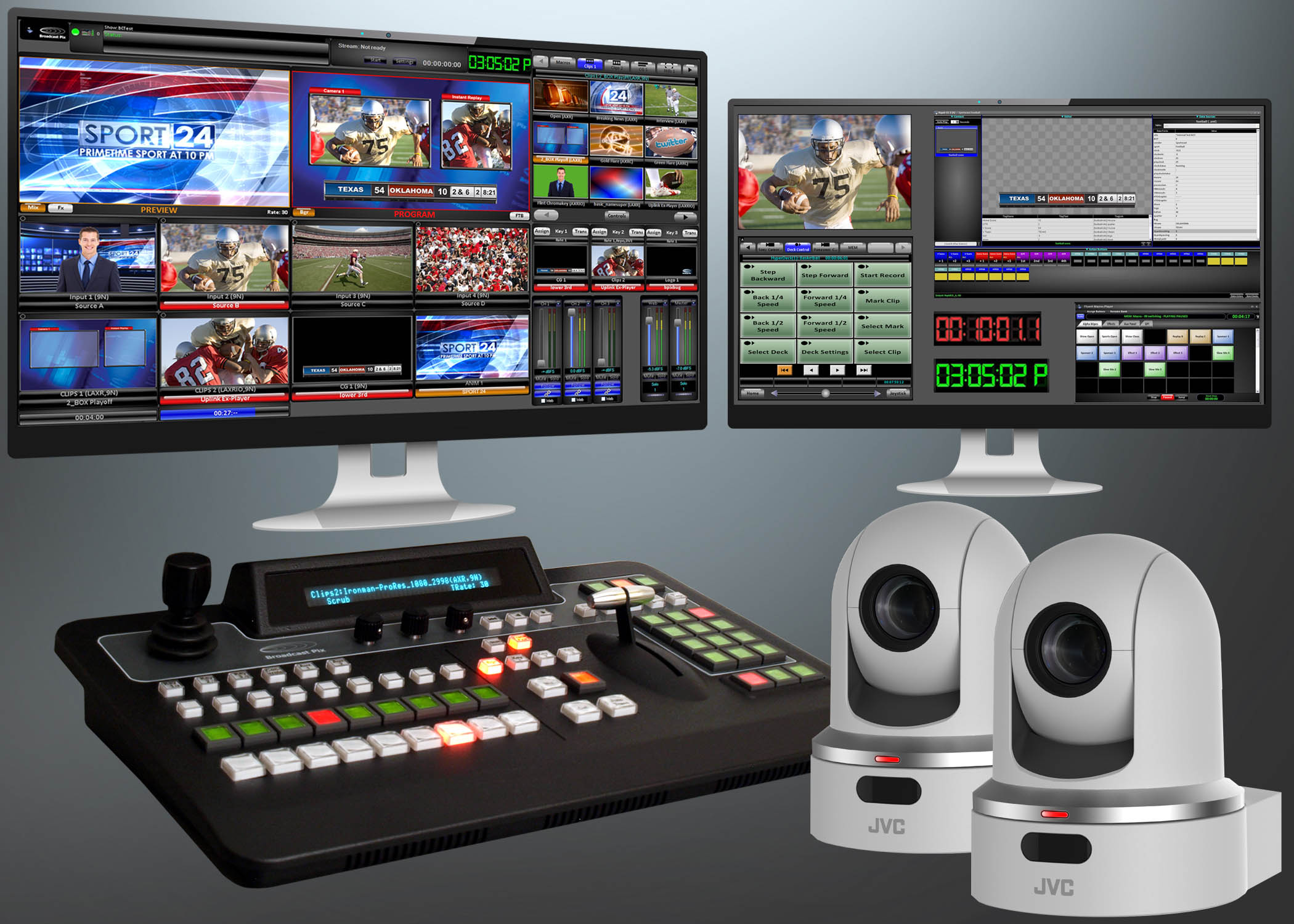 Jvc News Release Jvc And Broadcast Pix Offer Multi